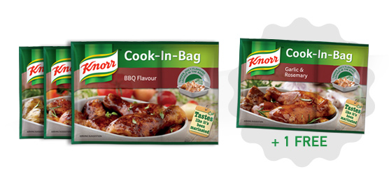 Buy any One Knorr Cook-in-Bag 36g