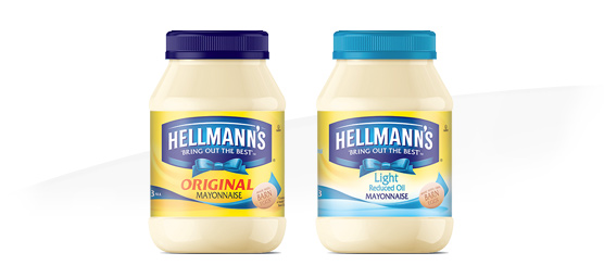 Buy Hellmann's mayonnaise original 394g or light 428g