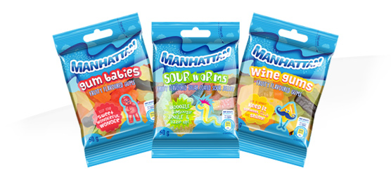 Buy any Manhattan Mini Sweet Packets 50g