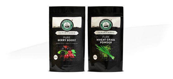 Buy Robertsons Superfoods Berryboost or Wheatgrass 100g