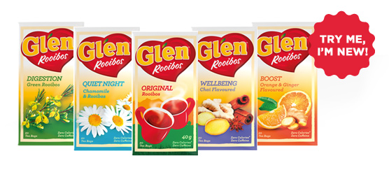 Buy any Glen Rooibos Flavours 20s